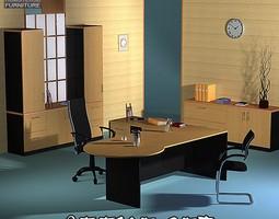 Office Set 3D asset game-ready