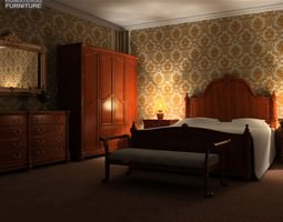 Bedroom Set 1 3D Model
