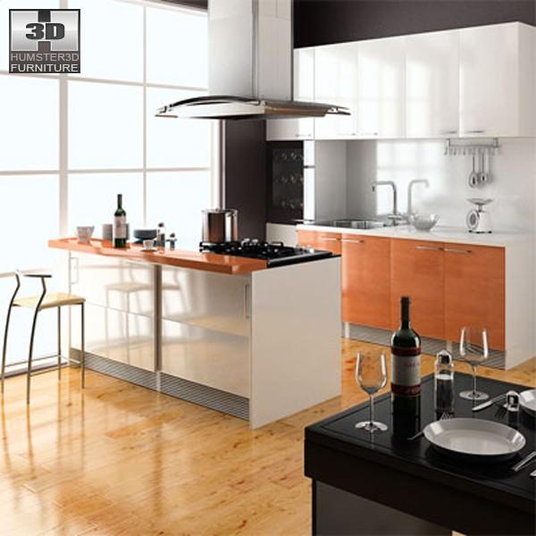 3d Model Kitchen Set Cgtrader
