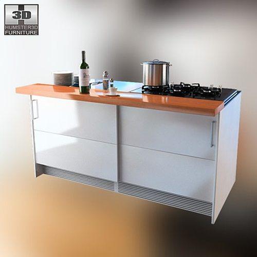 3d model kitchen set 4 vr ar low poly max obj 3ds fbx for Kitchen set 3ds max