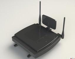 Linksys Router WRT600N 3D model