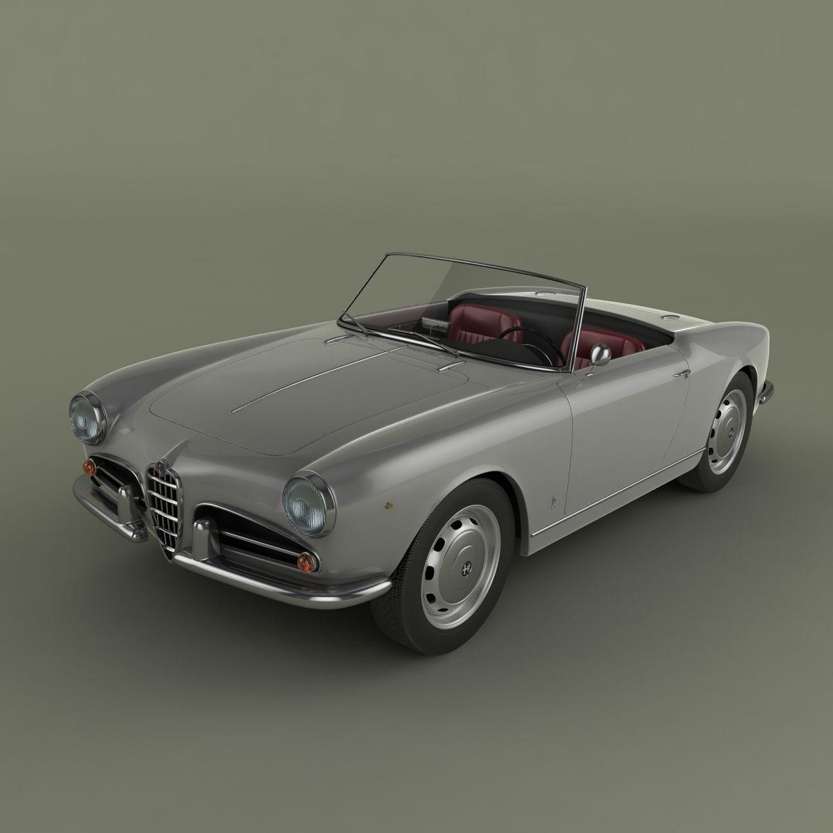 Alfa Romeo Giulietta Spider 3D Model MAX OBJ 3DS
