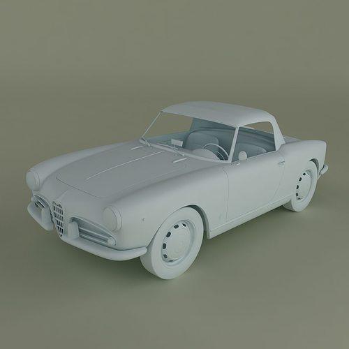 Alfa Romeo Giulietta Spider D CGTrader - Alfa romeo scale models