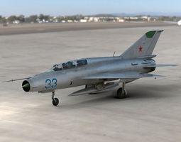 game-ready 3d asset mig 21