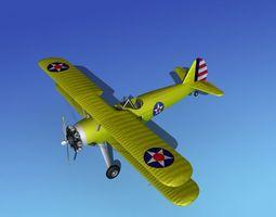 Stearman PT-17 Kaydet Trainer V01 3D model