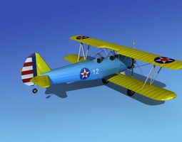 Stearman PT-17 Kaydet Trainer V13 3D model