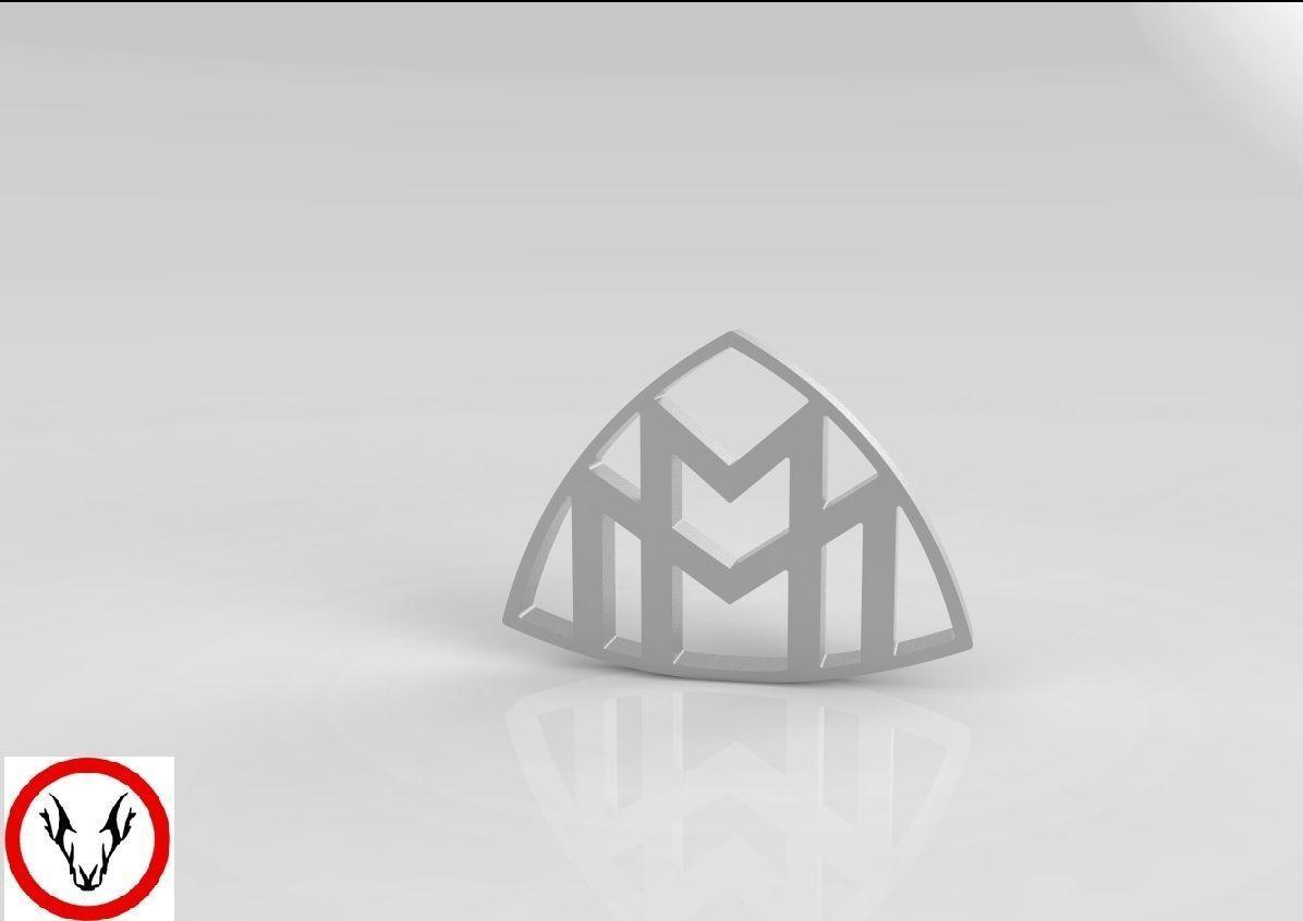 maybach logo free 3d model cgtrader