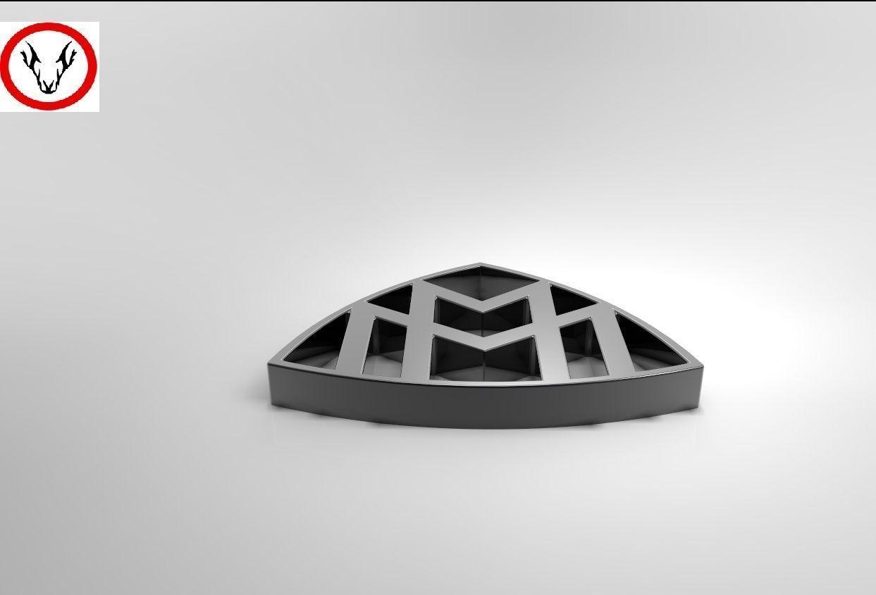 maybach logo free 3d model cgtradercom