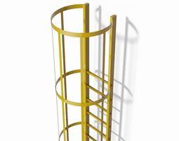 3d safety cage ladder