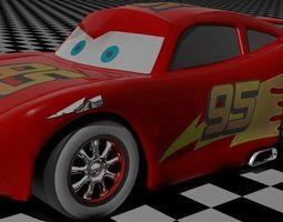 Lightning Mcqueen 3D asset