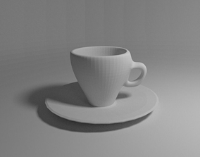 3D printable model lazza cup with saucer