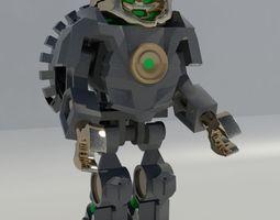 VR / AR ready animated 3d model lego robot