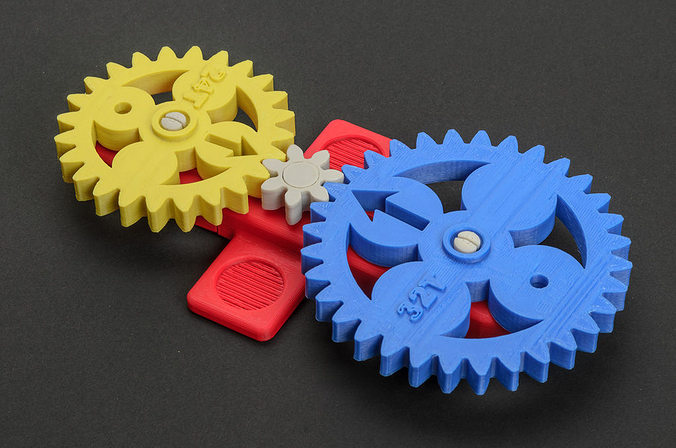 3d Printable Model Math Gears Cgtrader