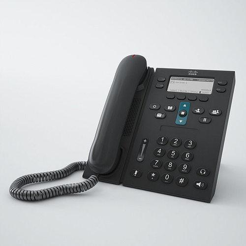cisco phone cp6941 3d model max obj mtl fbx 1