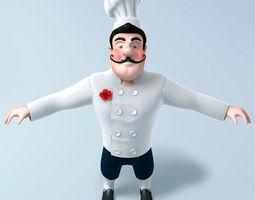 3D model Chef cartoon