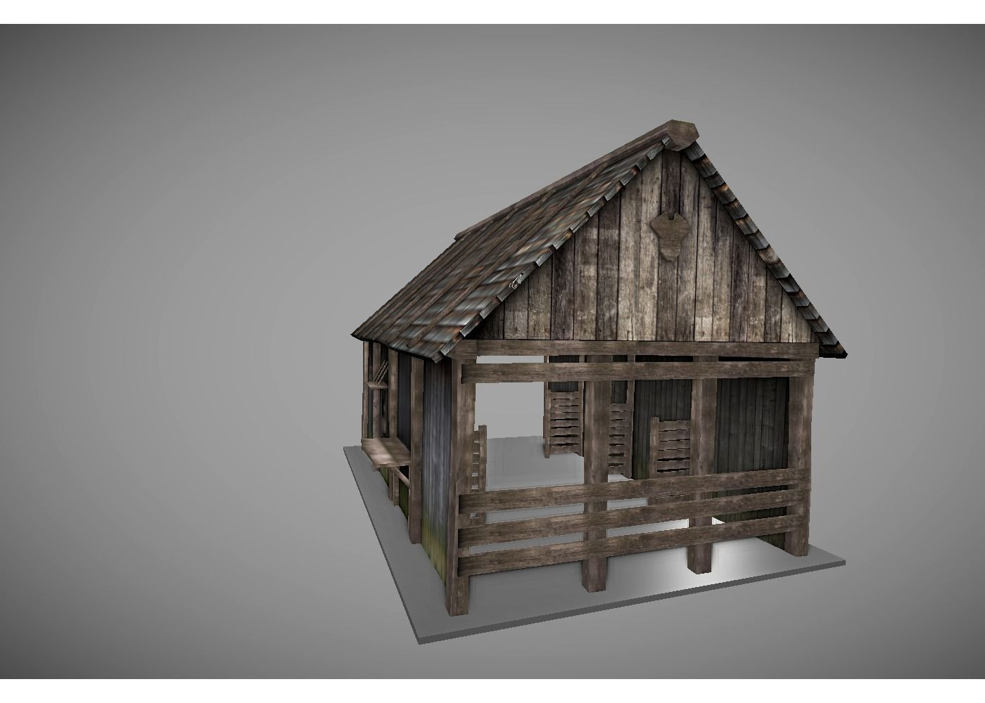 3d model low poly medieval house vr ar low poly obj for House 3d model