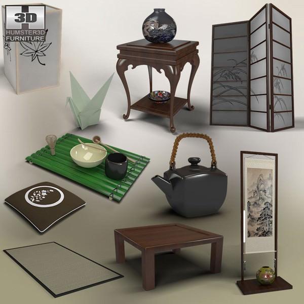 Anese Tea Room Model Low Poly Max Obj Mtl S Fbx C4d Lwo Lw