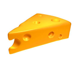 cheese 3d model low-poly max obj ma mb