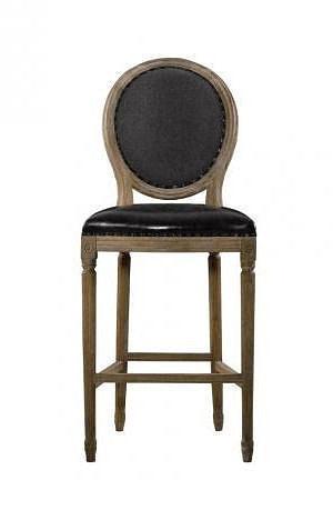 louis round high bar stool 3d model max obj stl mtl 2