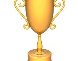 3D model Champion golden trophy