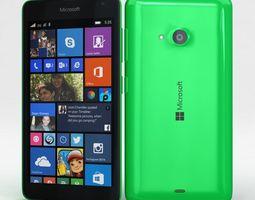 Microsoft Lumia 535 and Dual SIM Green 3D model