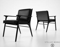 Stellarworks Ren dining chair 3D model