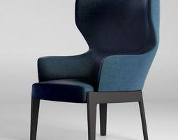 3D model Molteni Chelsea armchair