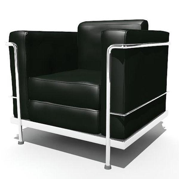 ... Le Corbusier Chair 3d Model Max Obj Ma Mb 6 ...