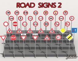 3d road signs 2