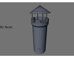 3D model historical tower