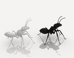 Detailed ant 3D printable model
