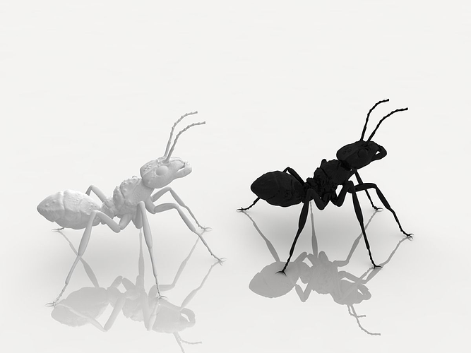 detailed ant 3d model obj 3ds mtl 1
