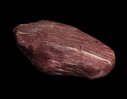3D asset Raw Beef Steak