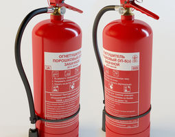 rigged fire extinguisher 3d