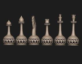 chess set 3D printable model ornament