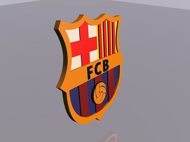 3d barcelona logo football club cgtrader barcelona logo football club 3d model animated c4d 2 voltagebd Choice Image