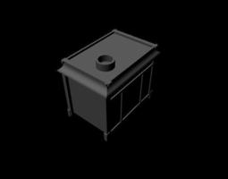 3D model game-ready restaurant