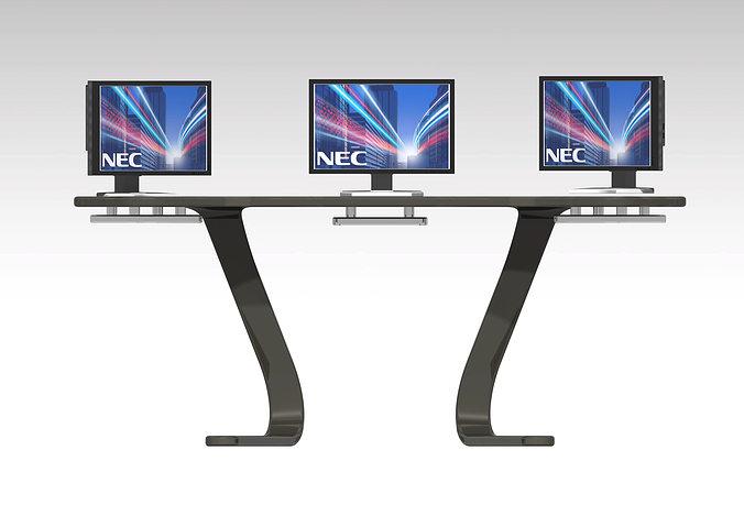 Nec desk design free 3d model stp for Nec table 373 6
