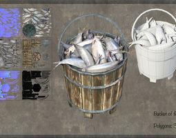 3D asset Bucket Fish