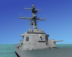 3d rigged burke class destroyer ddg 53 uss john paul jones