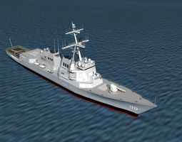 Burke Class Destroyer DDG 90 USS Chafee 3D model
