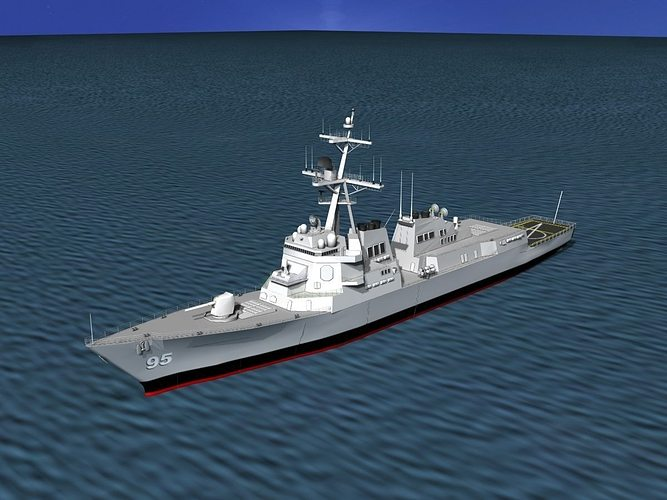 burke class destroyer ddg 95 uss james e  williams 3d model max 3ds lwo lw lws dxf stl 3dm 1