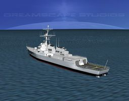 3d model burke class destroyer ddg 111 uss spruance rigged