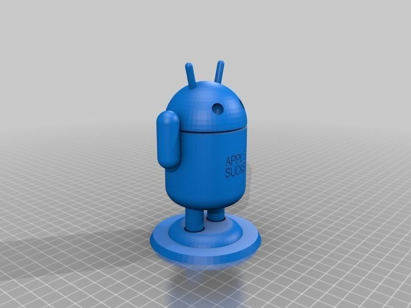 Anti Apple Android Guy 3D print model | CGTrader