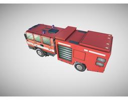 fire truck 3d model realtime