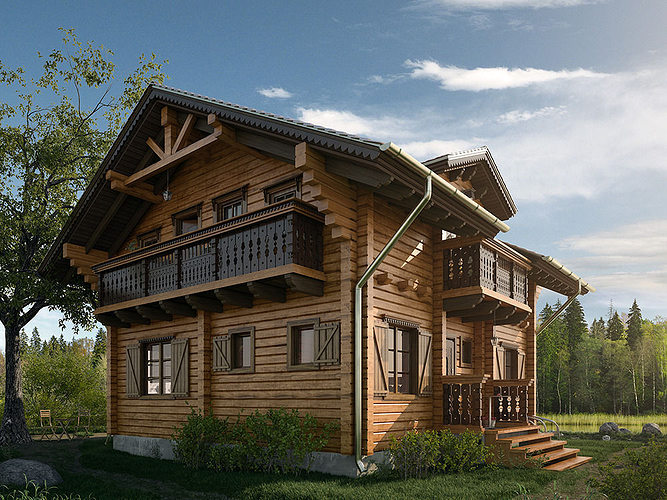 House Chalet 3d Cgtrader