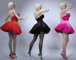 3D Girl skirt stockings