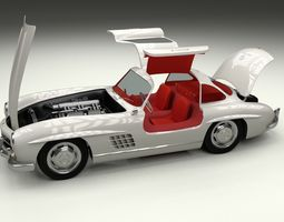 rigged fully modelled rigged mercedes 300sl gullwing