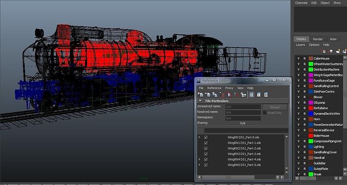 steam locomotive d51 3d model ma mb tga 1