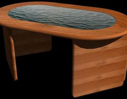 coffee table acacia 3d model